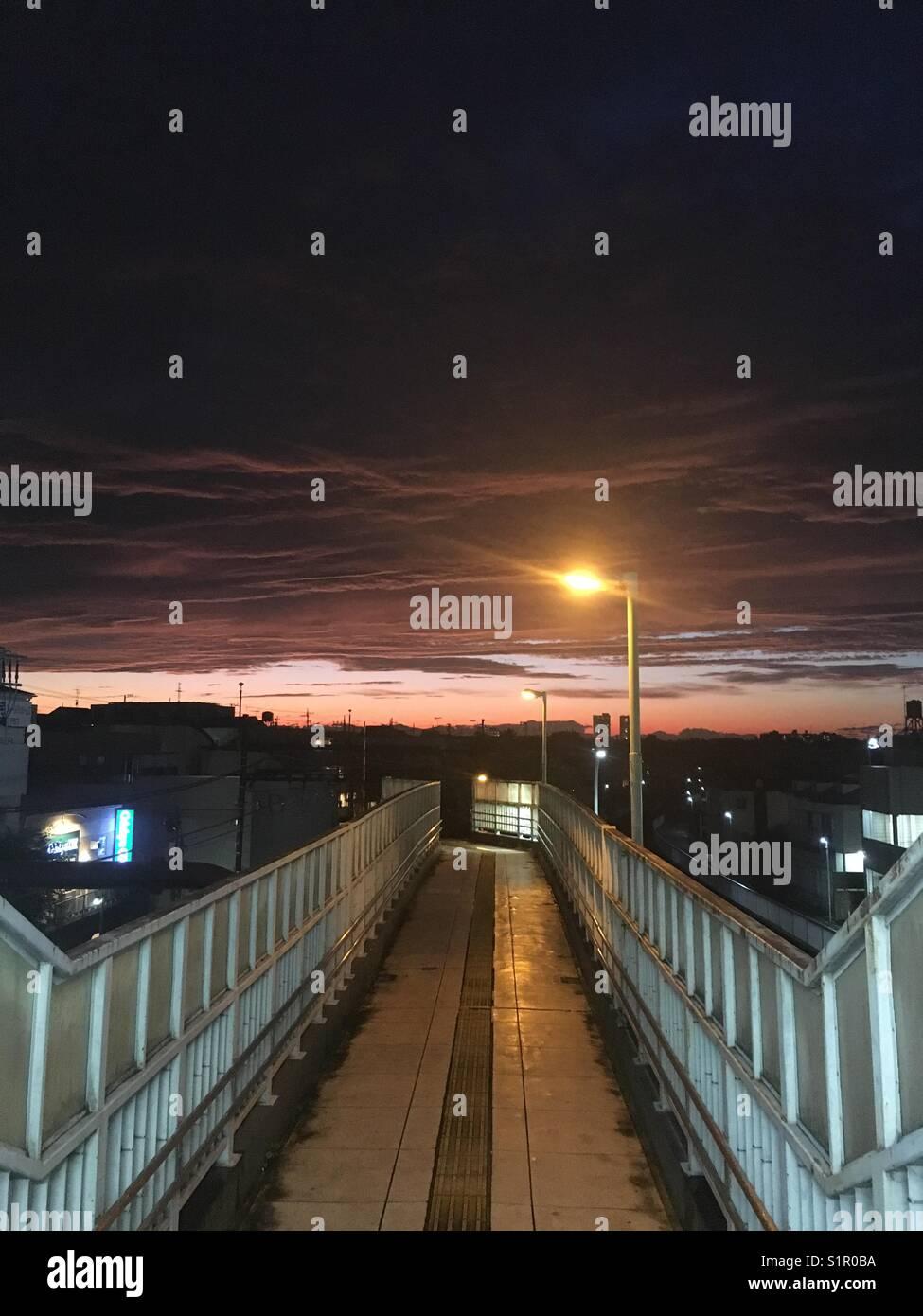Sonnenuntergang nostalgische Stockbild