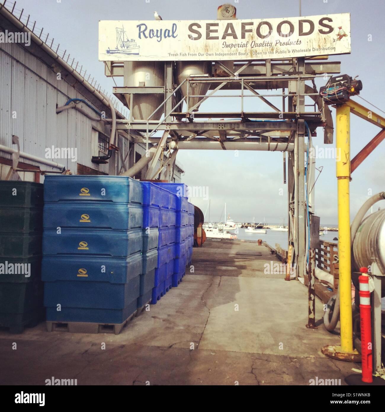 Royal Seafoods, Monterey Municipal Wharf 2, Monterey, Kalifornien Stockbild
