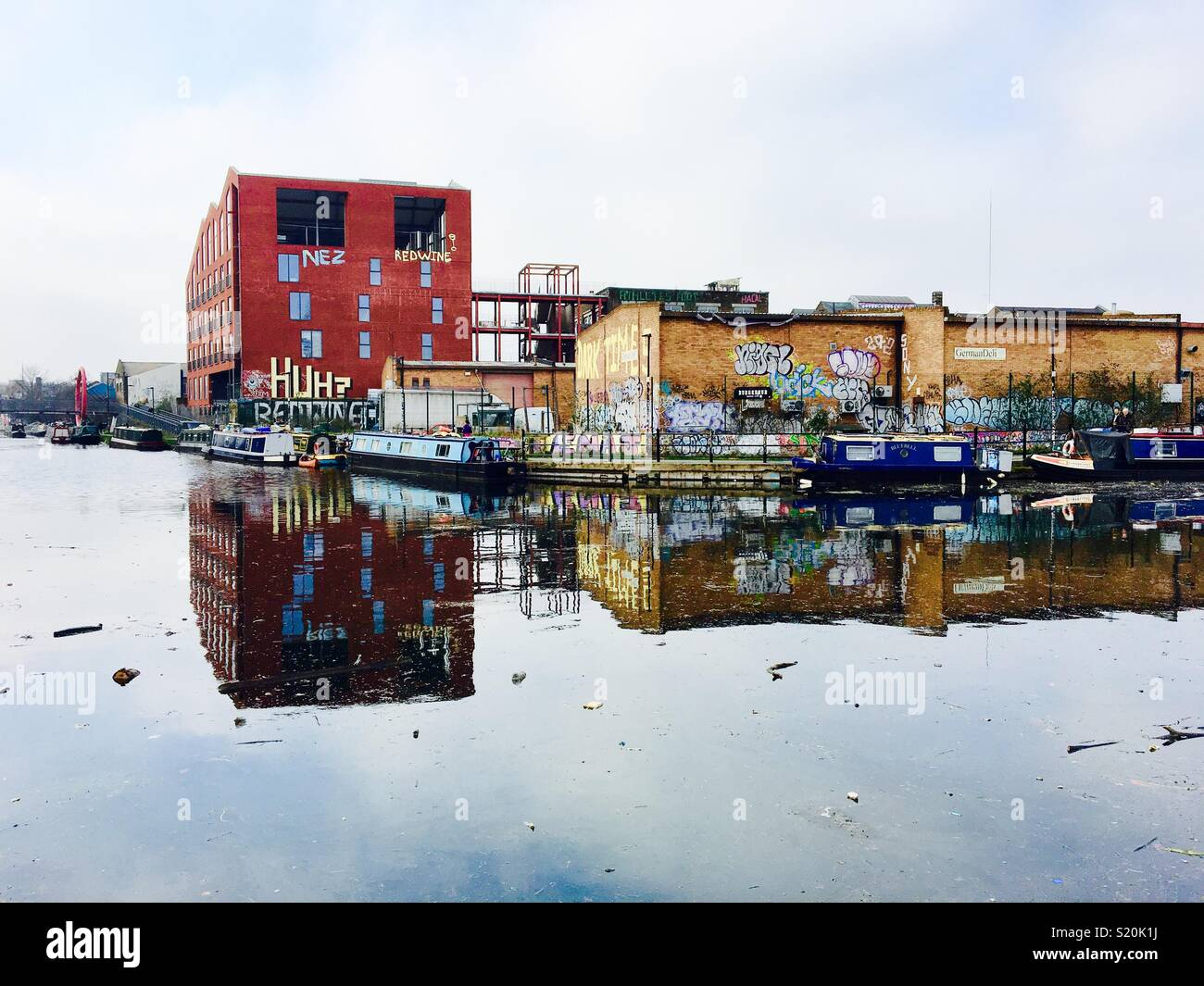 Hackney Reflexionen Stockbild