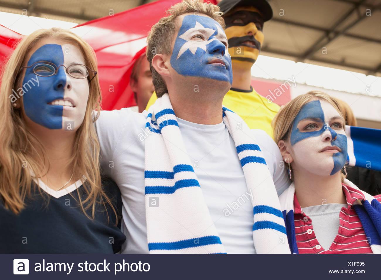 Fußball-Fans Stockbild