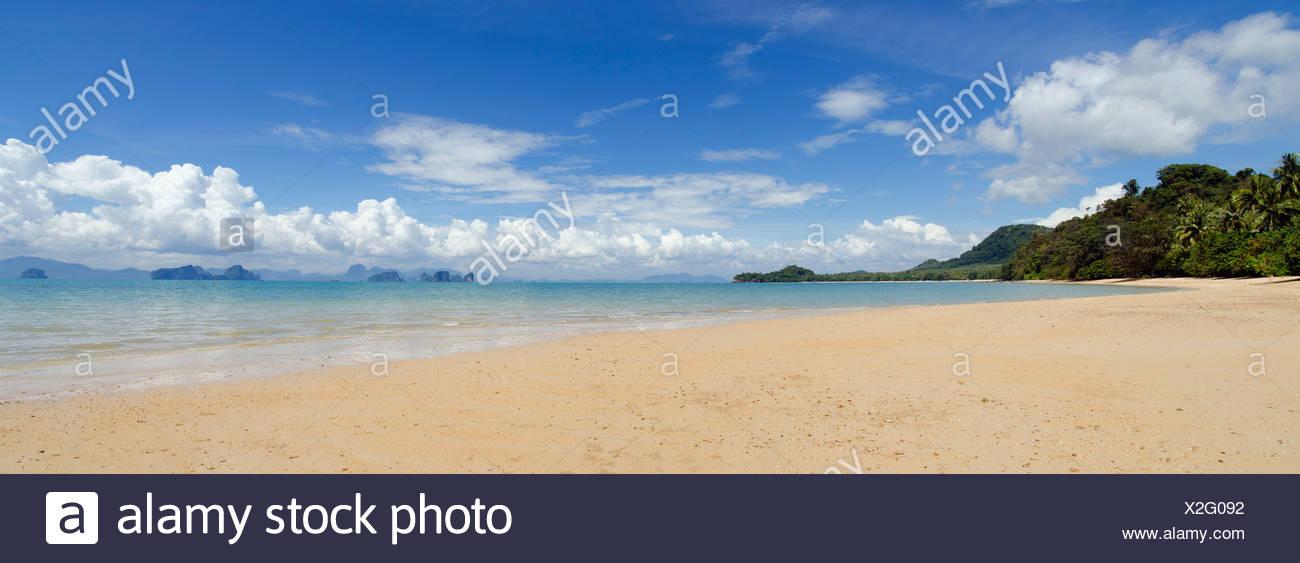 Sandstrand, Pasai Beach, Koh Yao Noi, Phang Nga, Thailand, Südostasien, Asien Stockbild