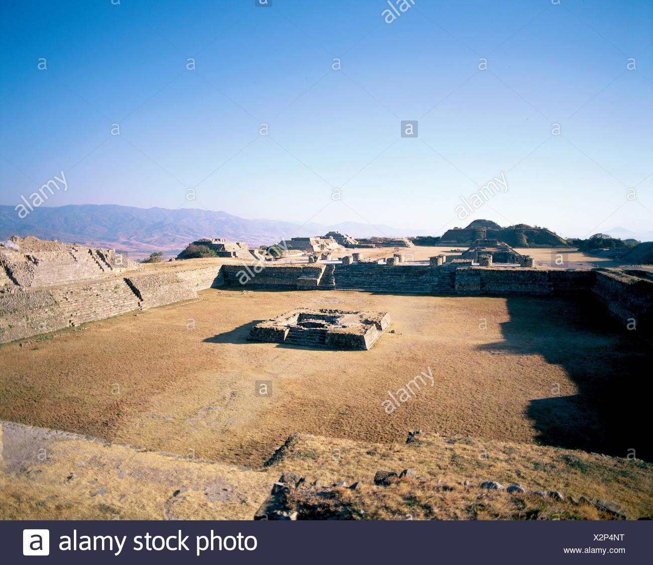 Kultur Mexiko Mittelamerika Lateinamerika Monte Alban Ruinen Süd Plattform Stockbild