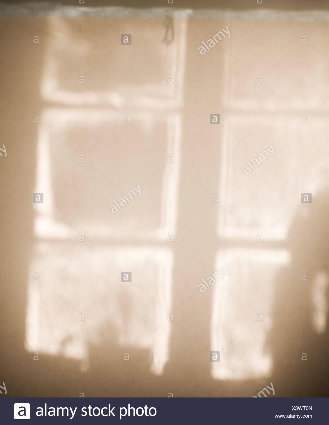 Skandinavien, Schweden, Skane, Ansicht des Fensters Stockbild