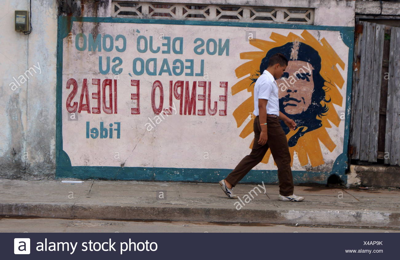 Che Guevara, Baracoa, Kuba Stockbild