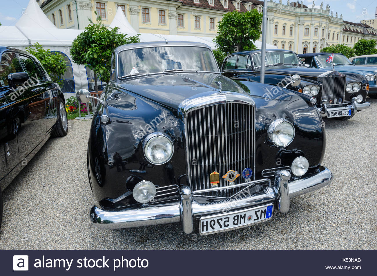 Bentley S2, Baujahr 1960, Classics meets Barock Oldtimer-Treffen, Schloss Ludwigsburg, Regierungsbezirk Stuttgart Stockbild