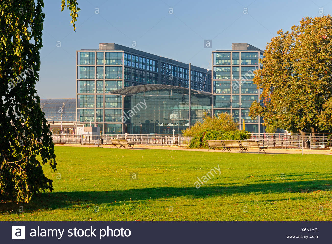 Berlin Hauptbahnhof Lehrter Bahnhof Regierung Viertel, Berlin, Deutschland, Europa, PublicGround Stockbild
