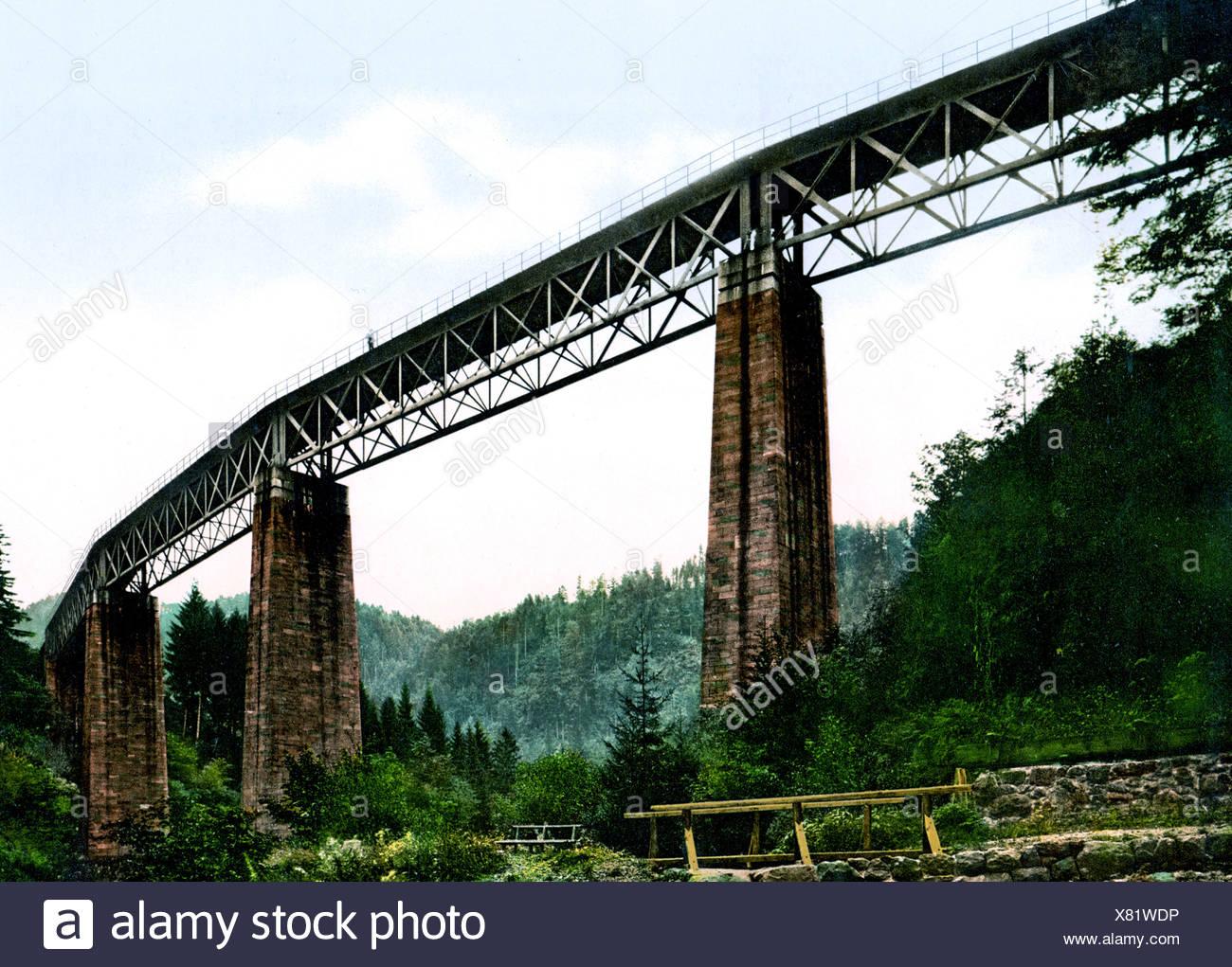 Viadukt Über Ravennaschlucht Hollental Eisenbahn Stockbild