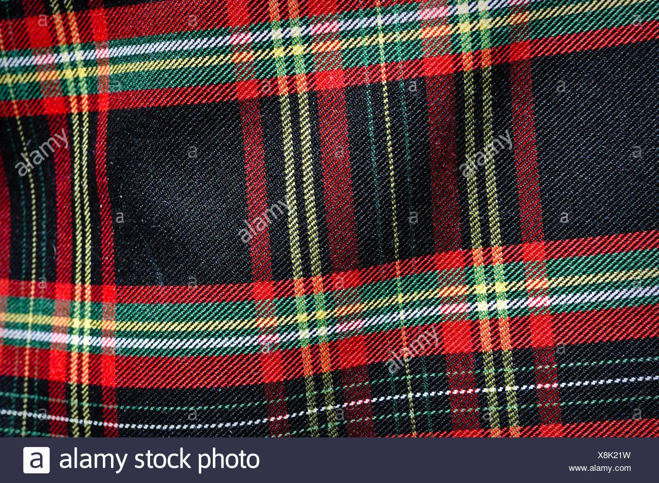 Schottische Tartan Kilt Stockbild