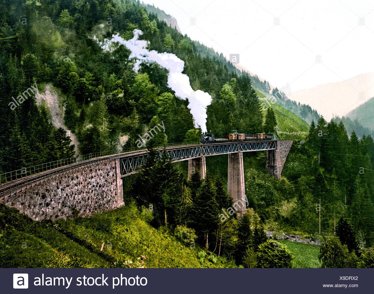 Viadukt bin Höllental Und Ravennaschlucht Schwarzwald Stockbild