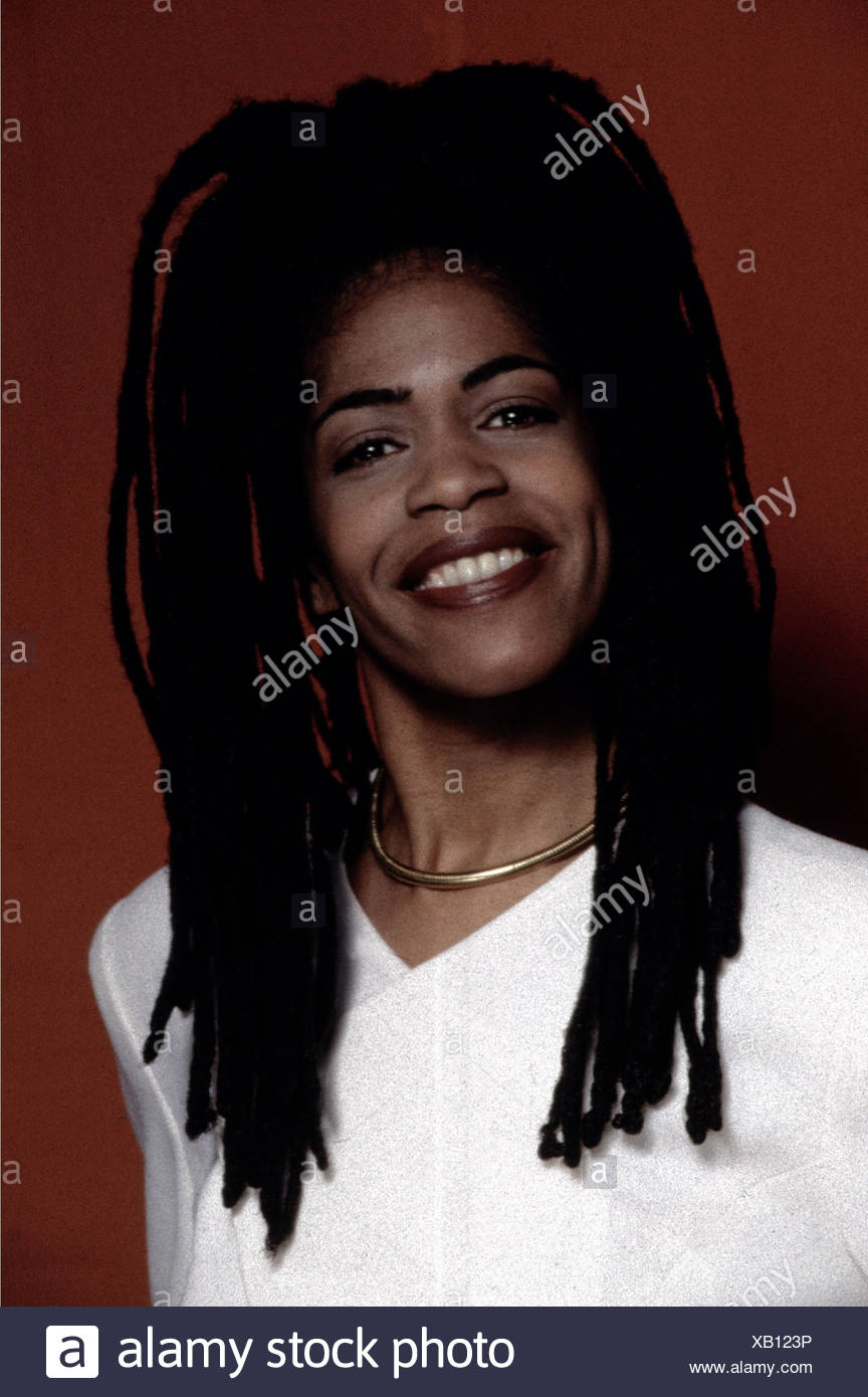 Newkirk, Liebe, US-Moderatorin, VH-1, Porträt, 1997, Dreadlocks, Dreadlocks, Cornrows, Stockbild