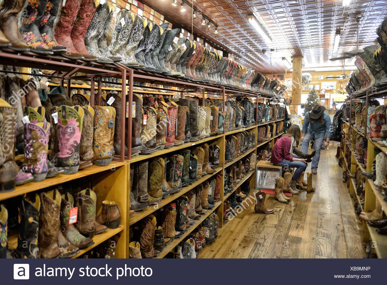 USA, USA, Amerika, Texas, Austin, Boot, Stiefel, Store, Einkaufen, Americana Stockbild