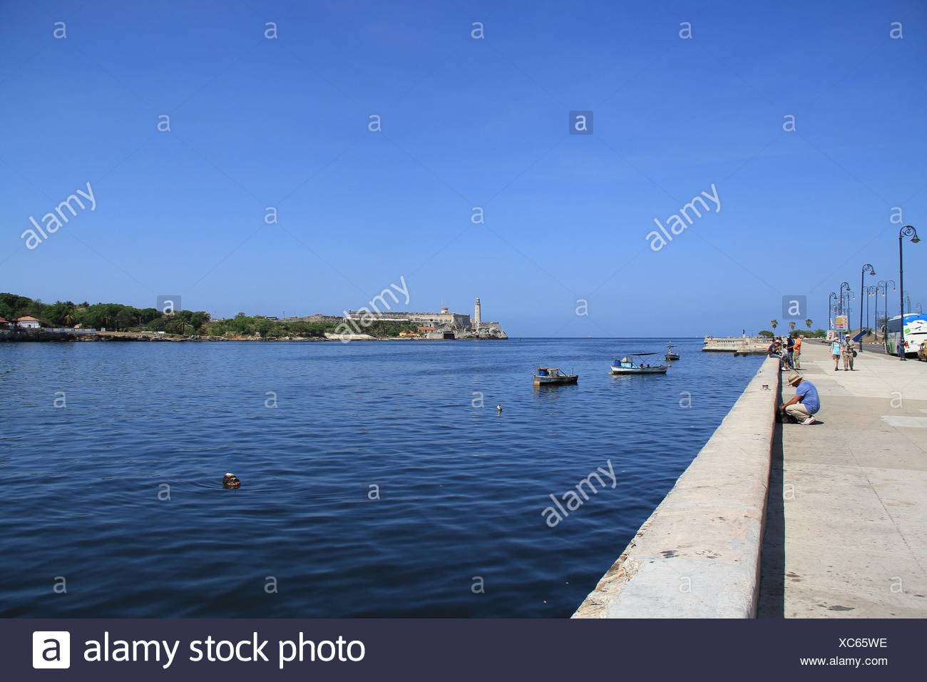 Malecon, Havanna, Kuba Stockbild