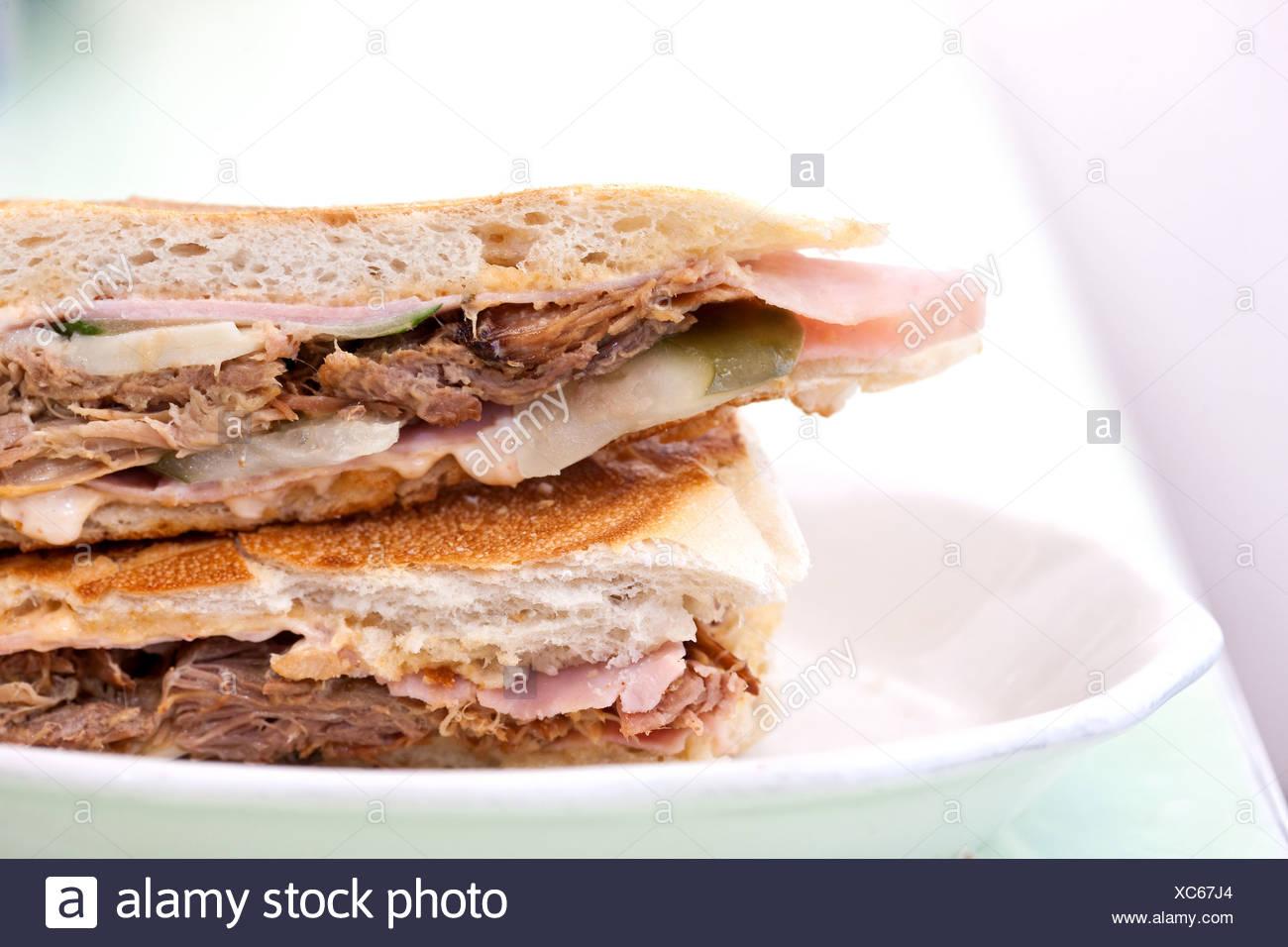Cuban sandwich Stockbild