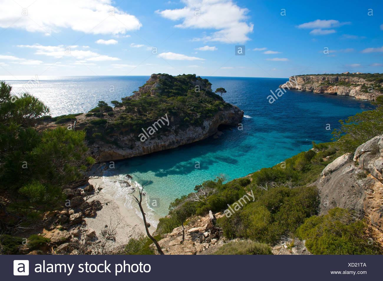 Cala S'Amonia, Mallorca, Balearische Inseln, Spanien, Europa Stockbild