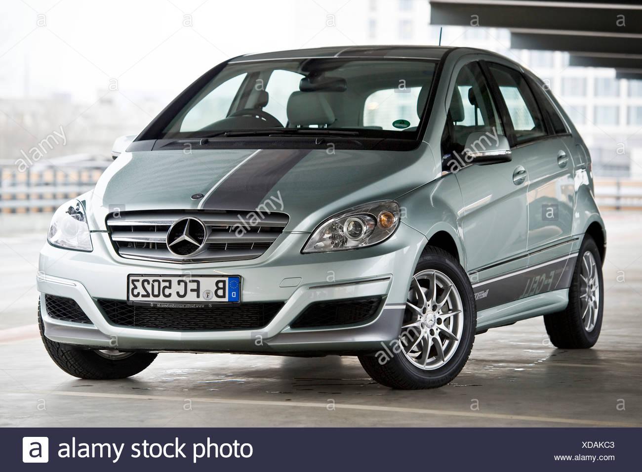 Wasserstoff-Brennstoffzellen-Fahrzeug, Mercedes B-Klasse Null-Emission, Berlin, Deutschland, Europa Stockbild