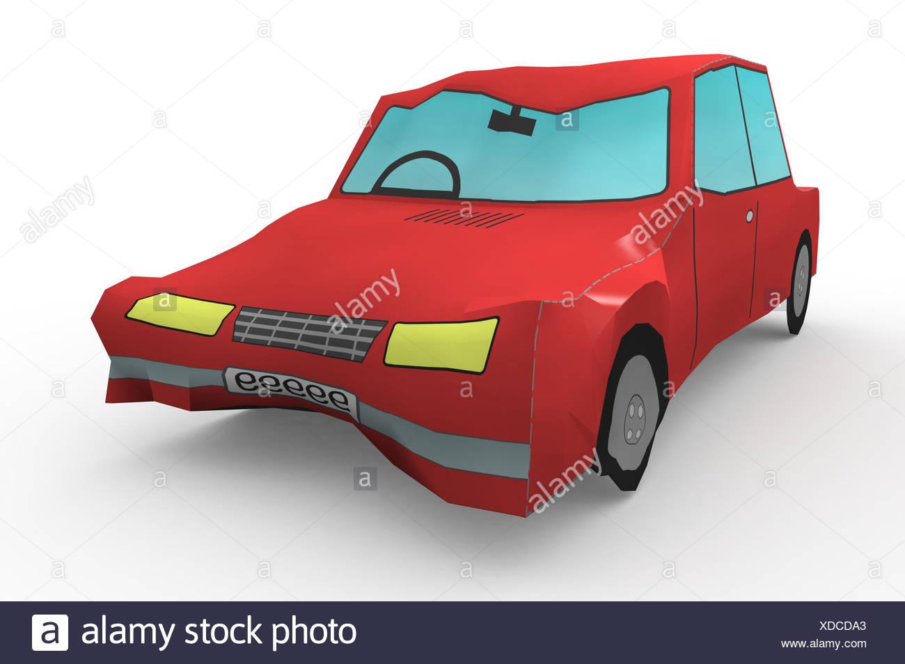 crashed car isolated stockfotos crashed car isolated. Black Bedroom Furniture Sets. Home Design Ideas