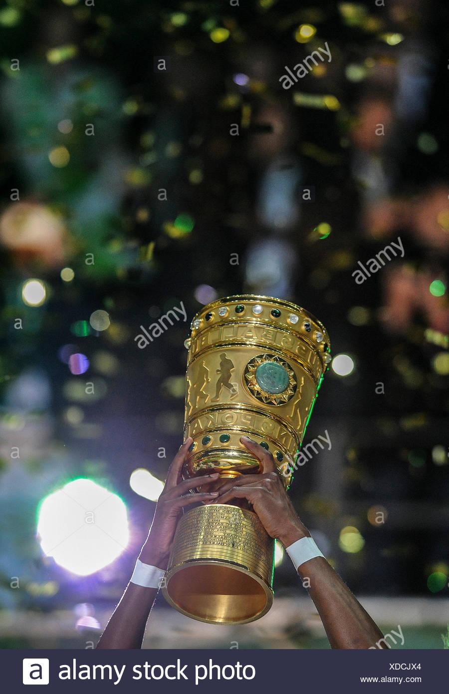 Fußball, deutsche DFB-Pokal statt in der Luft, Olympiastadion, Berlin, Deutschland Stockbild