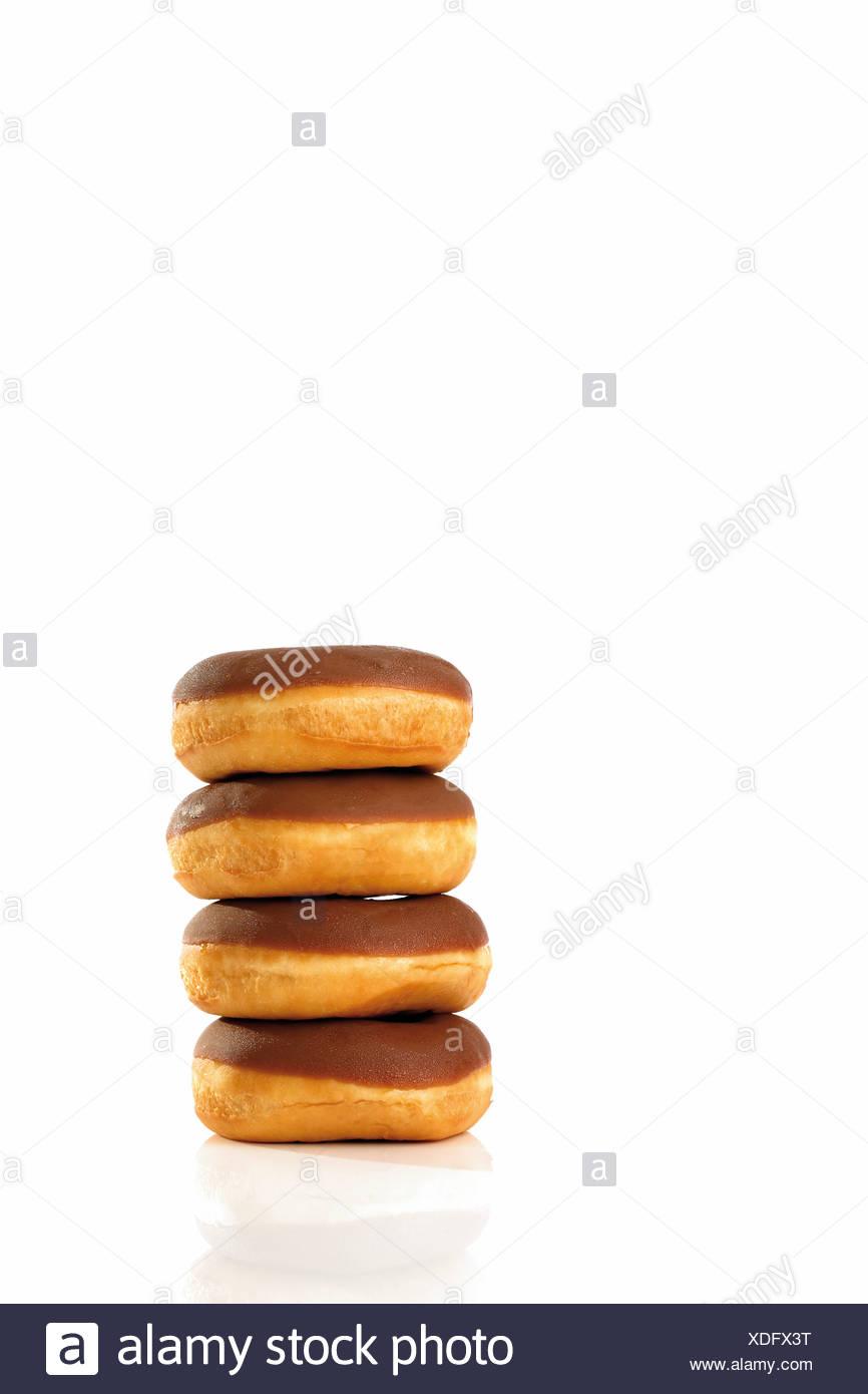 Donuts mit Milchschokolade-Beschichtung Stockbild