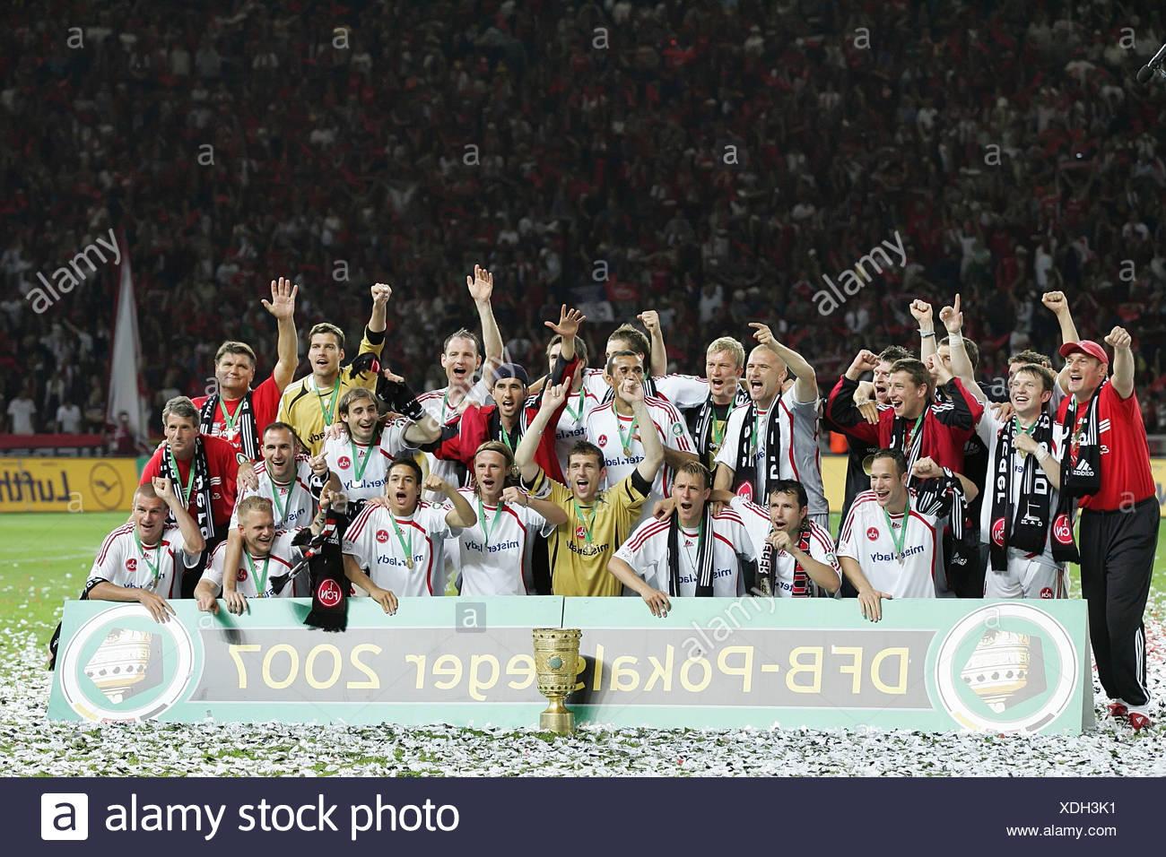 Fußball-Cup-Sieger 2007 - 1.FC Nürnberg Stockbild