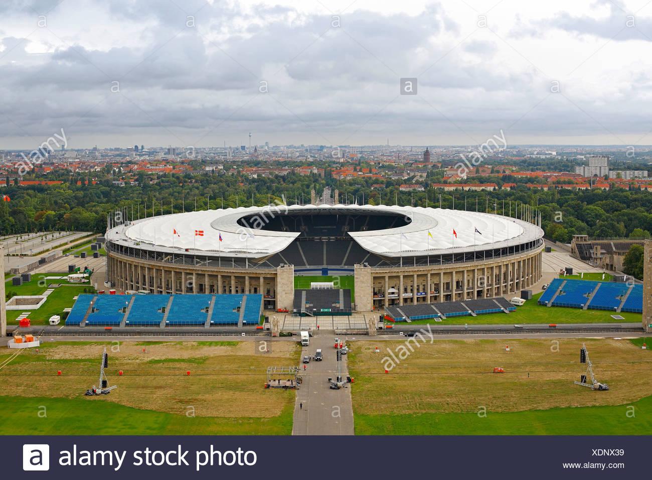 Olympiastadion in Berlin, Deutschland, Europa Stockbild