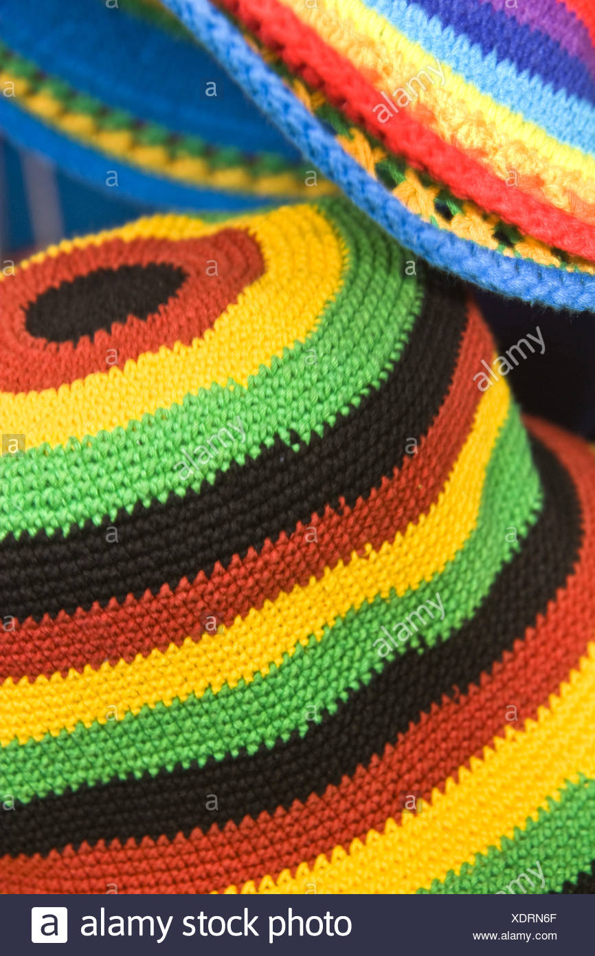 Hüte, Afrika-Karibik-Festival Stockbild