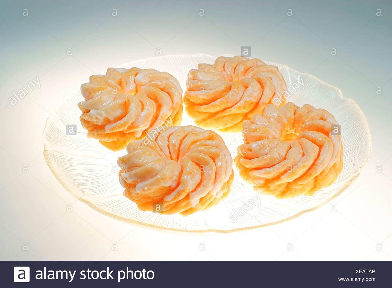 Cruller Donuts aus Berlin Stockbild