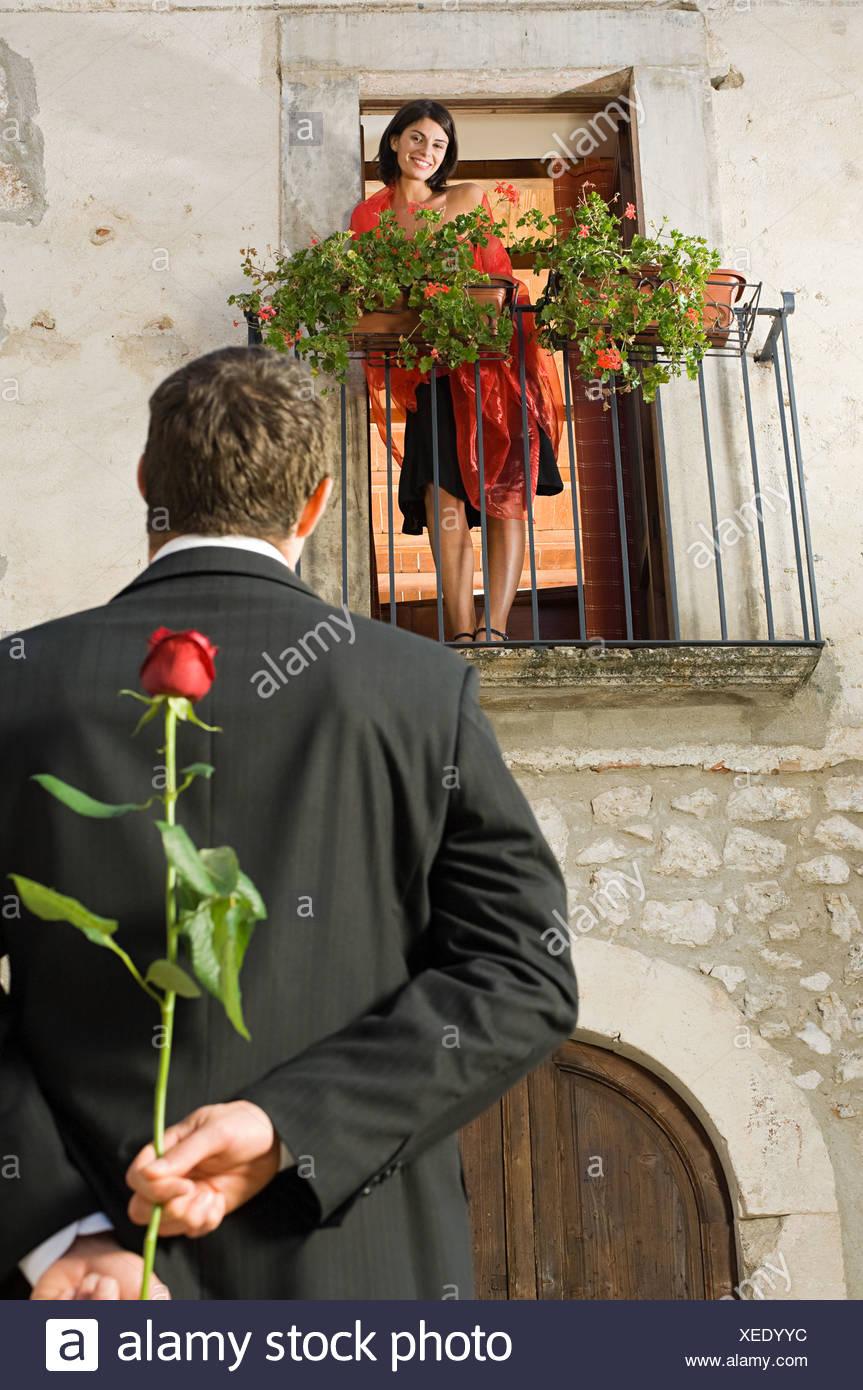 Romeo und Julia Stockbild