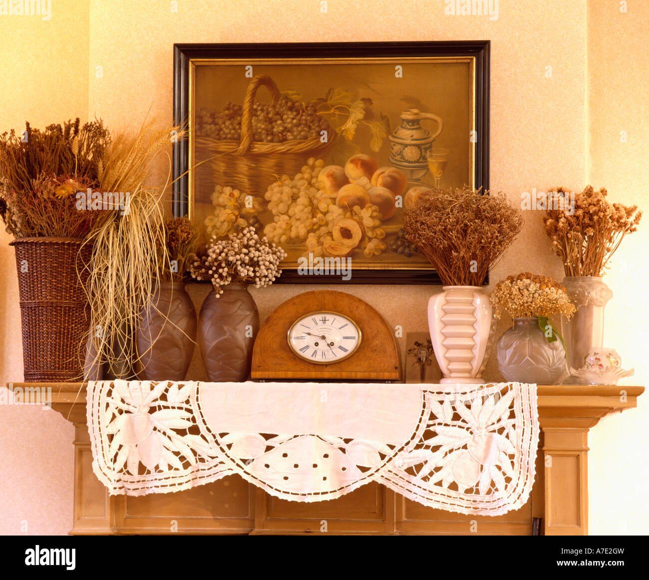 Detalle De La Imagen Anterior Vintage Jarrones De Flores Secas Y - Jarrones-con-flores-secas
