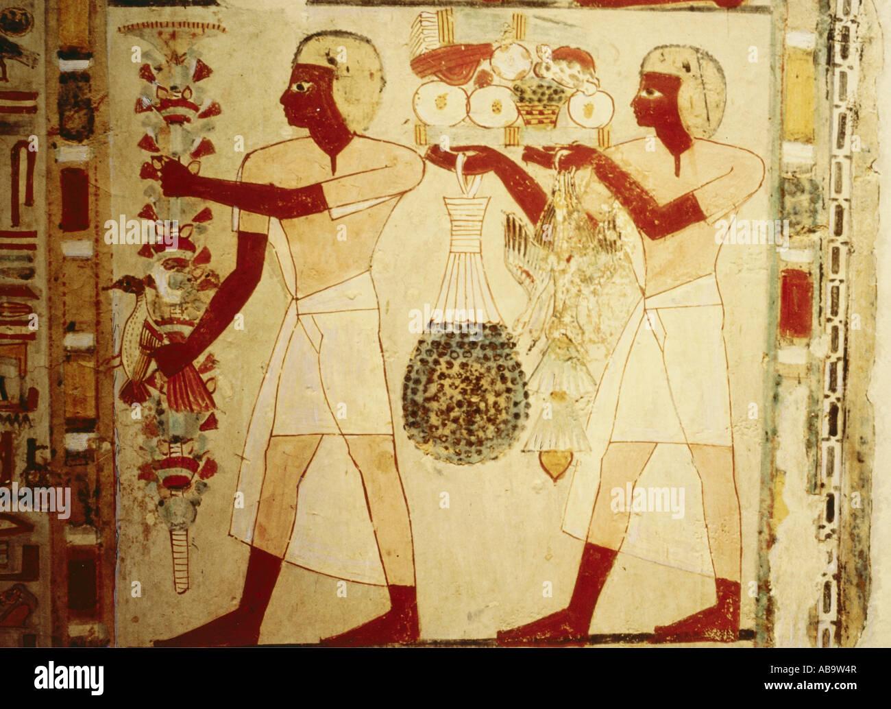 Arte Egipcio Pintura Mural