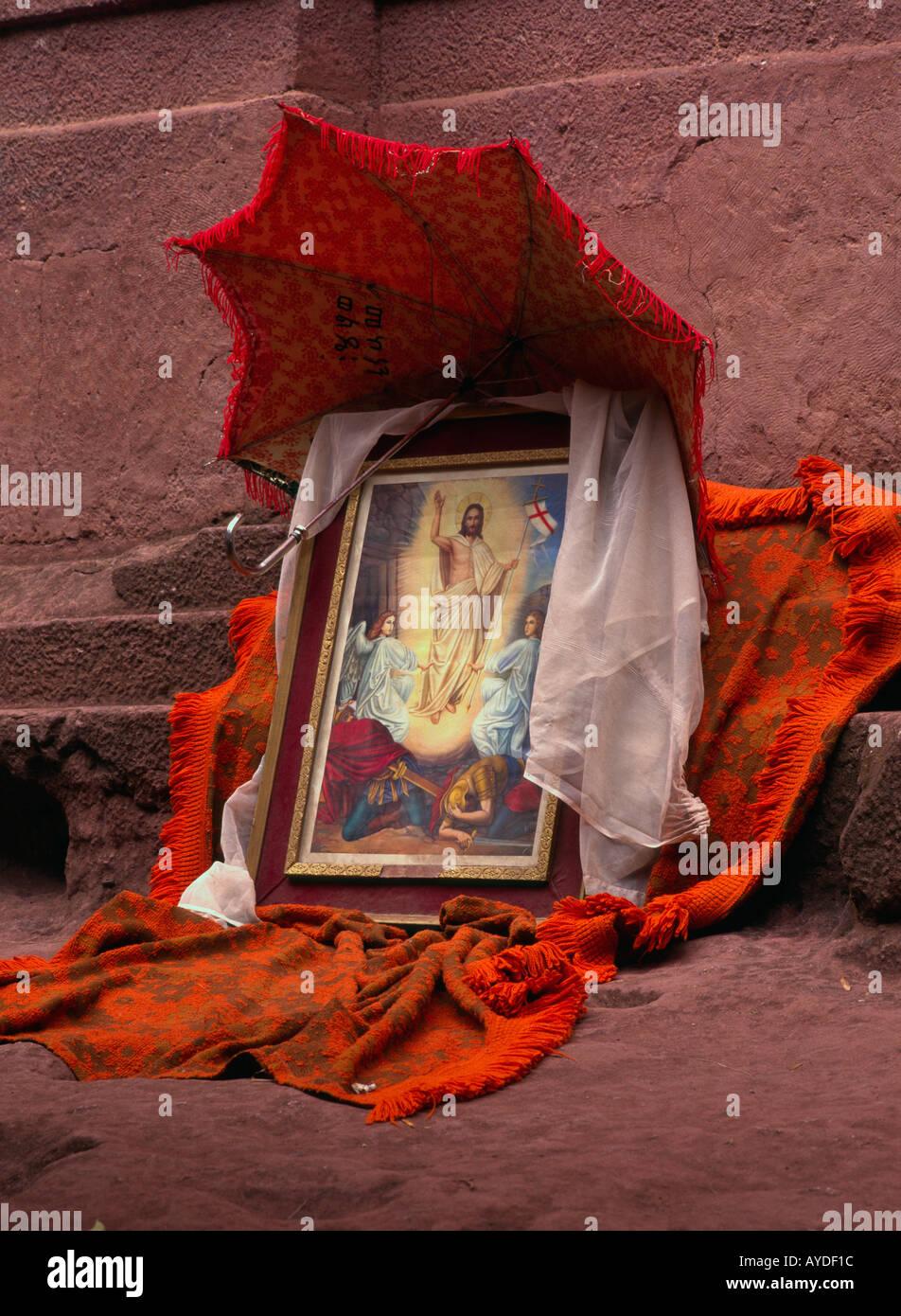 Etiopía Lalilbela imagen enmarcada de una escena bíblica que muestra ...