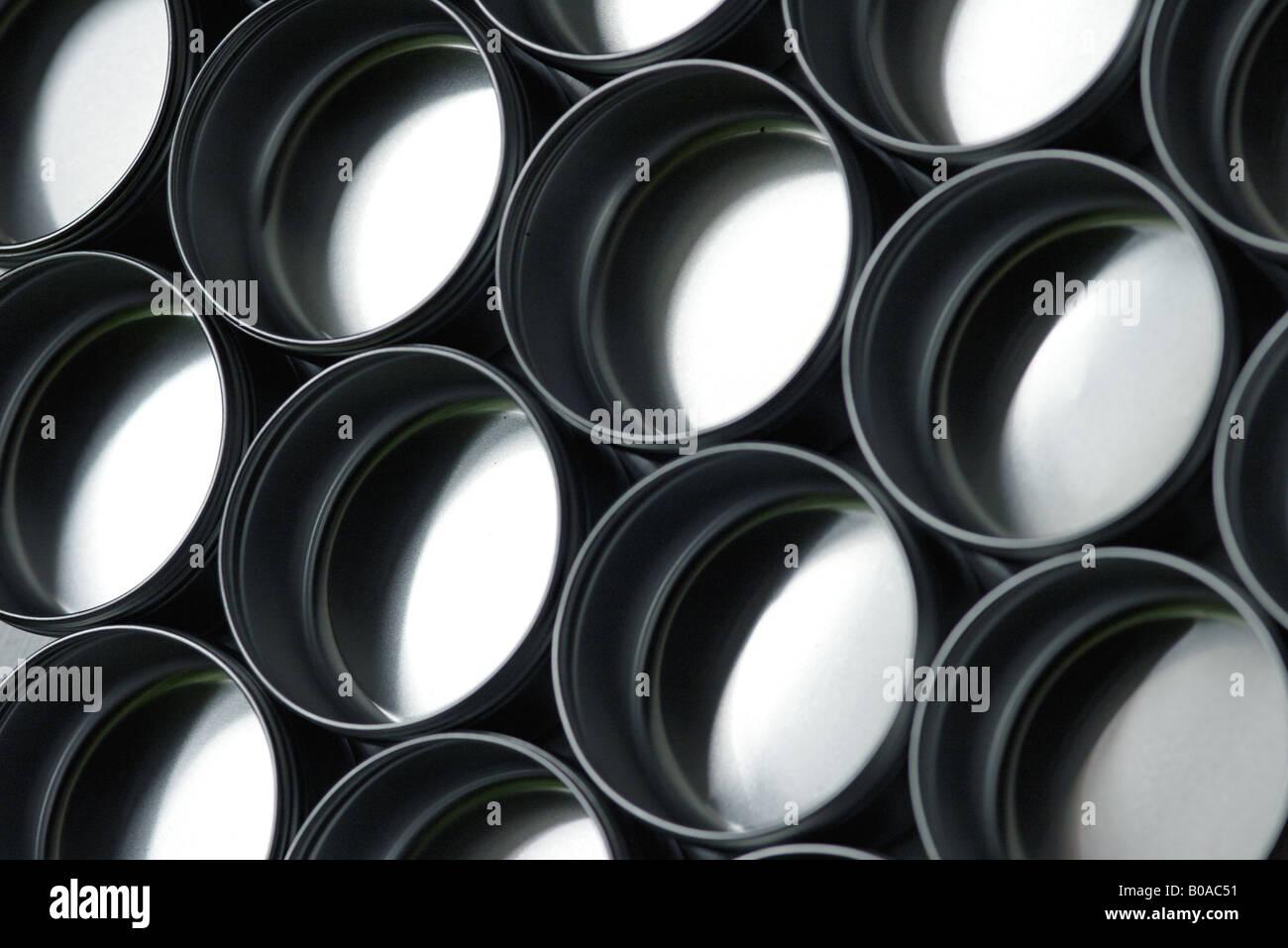 Los contenedores metálicos, close-up Imagen De Stock