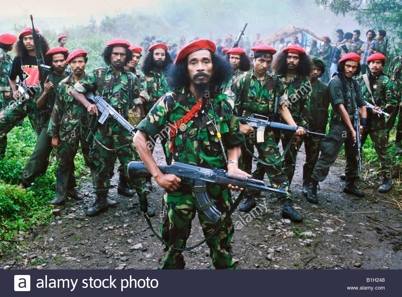 Las Falintil fuerza guerrillera en las selvas de la República Democrática de Timor-Leste (Timor Oriental) Foto de stock