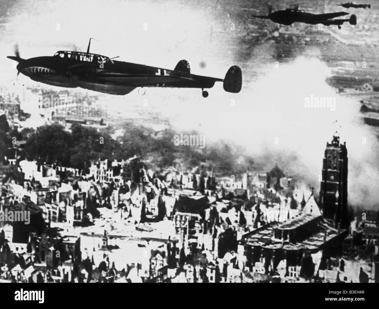 Guerra Mundial II/bombas/Dunkerque. Imagen De Stock
