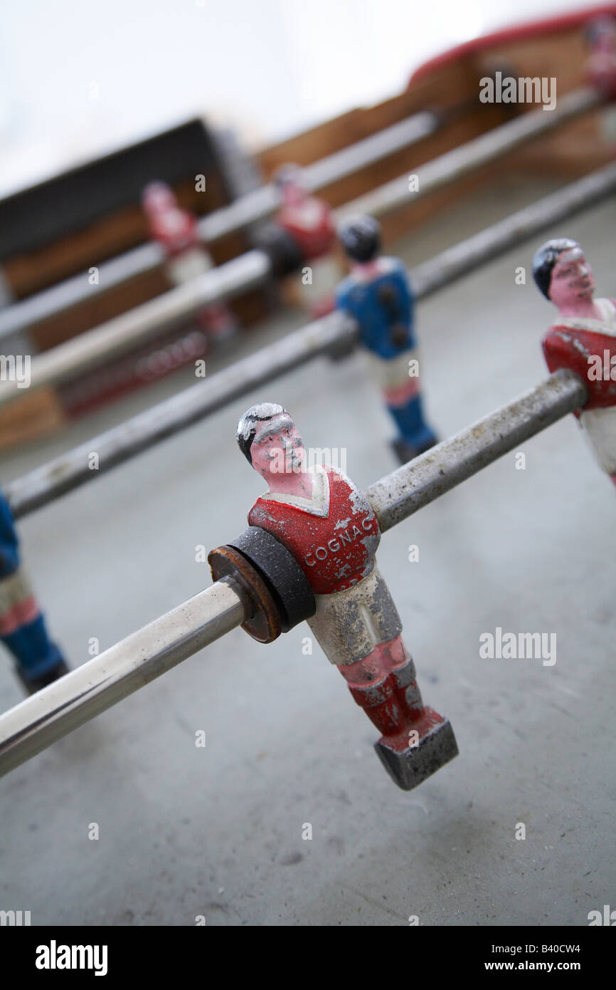 Antiguo Juego De Futbol De Mesa Retro Foto Imagen De Stock
