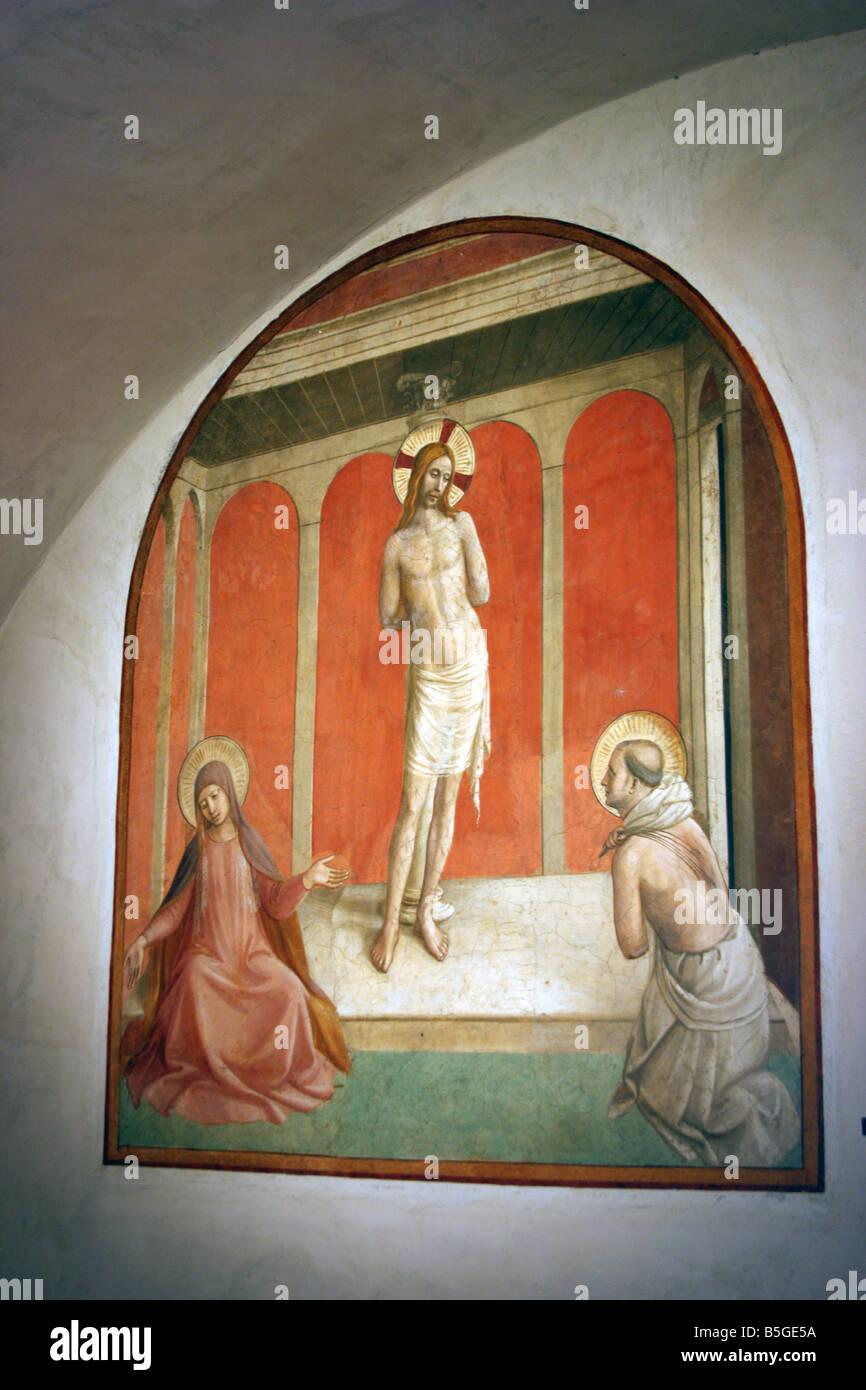 Fresco, el monasterio de San Marcos, Florencia, Italia Foto & Imagen ...