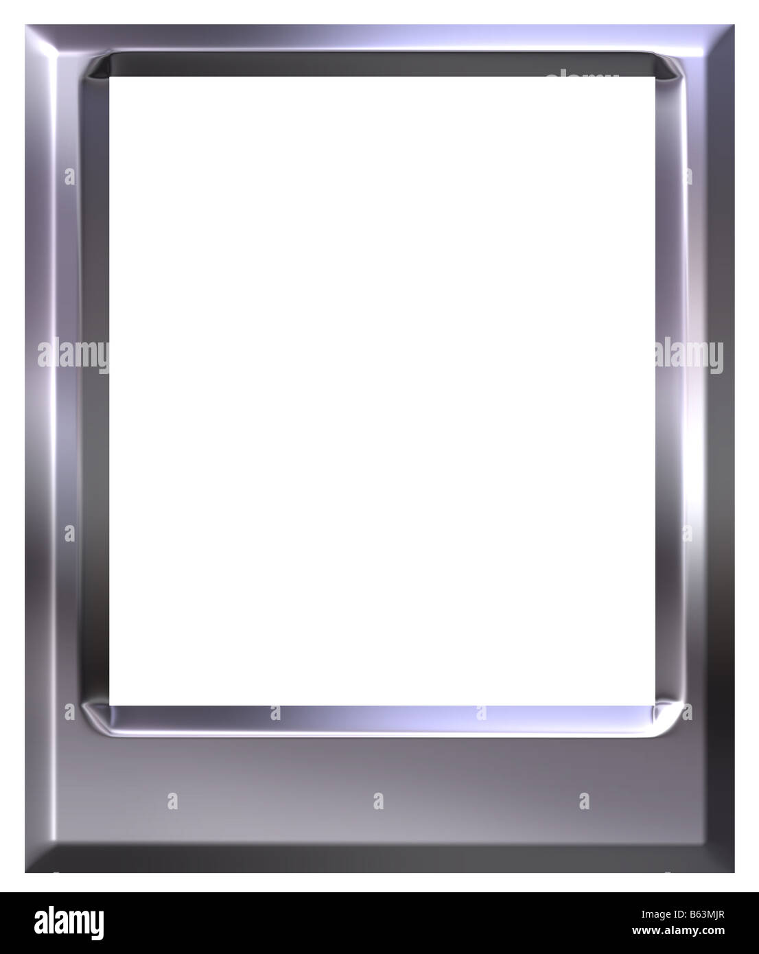 Marco de fotos de plata en 3D Foto & Imagen De Stock: 20980367 - Alamy