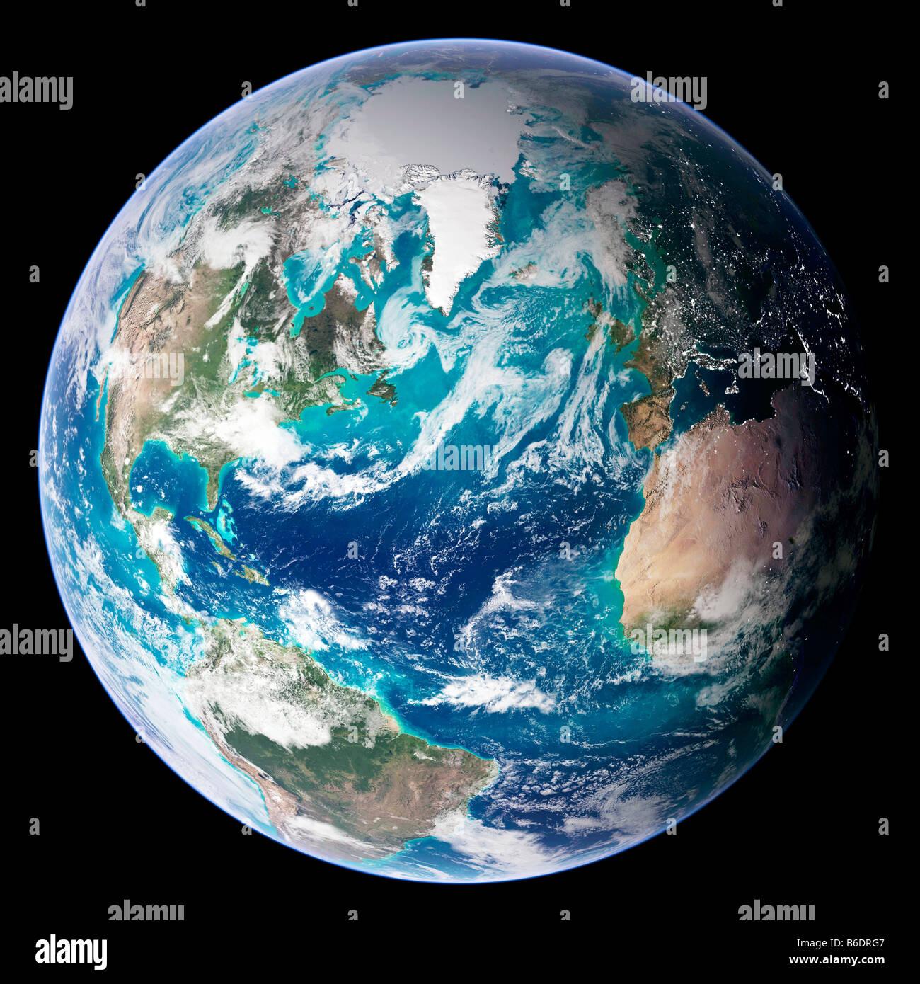 Imagen De Mármol Azul De La Tierra Imagen Satelital De La Tierra