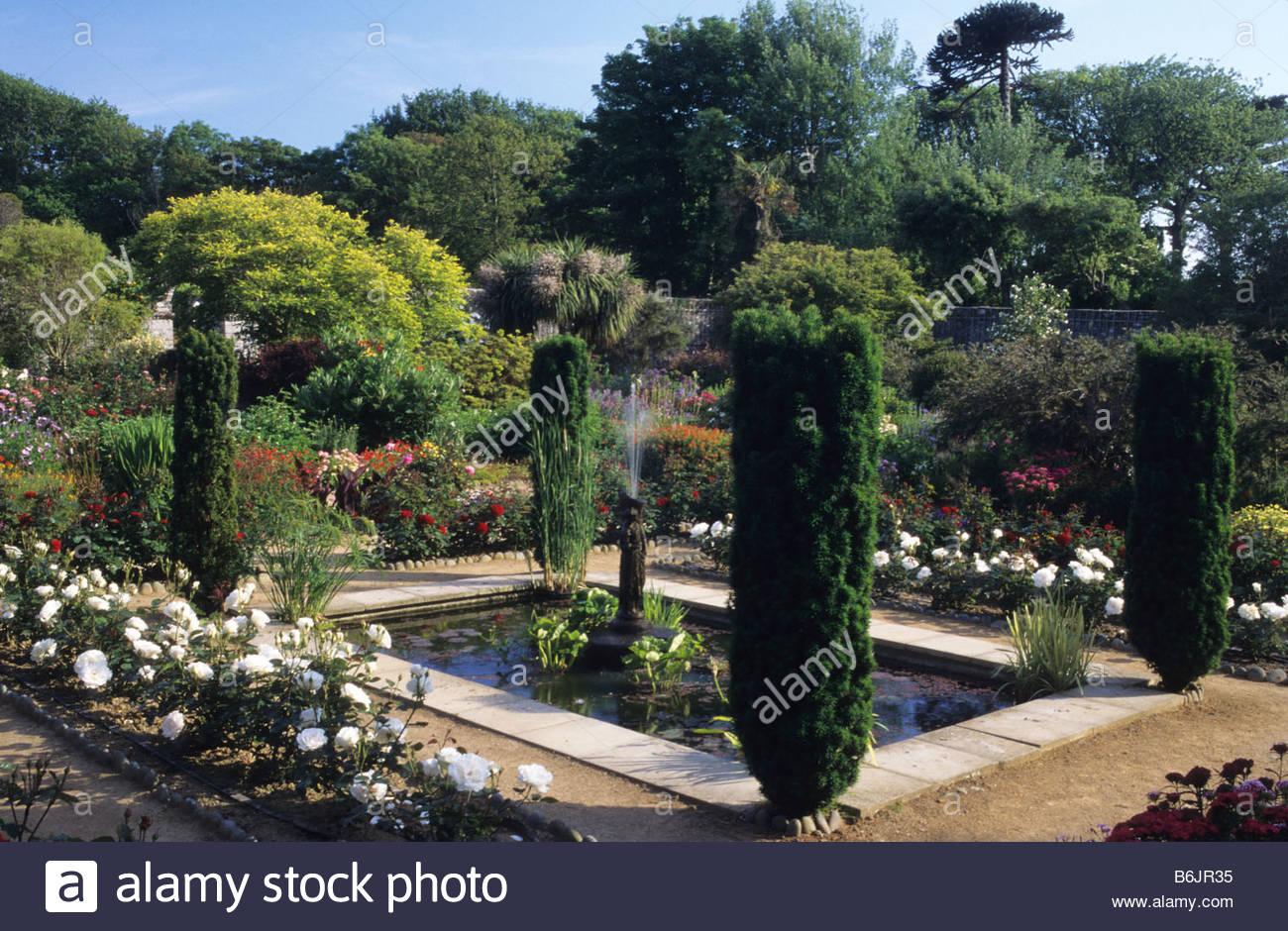 Seigneurie Jardin Sark Channel Isles Pequeno Estanque Rectangular - Estanque-rectangular