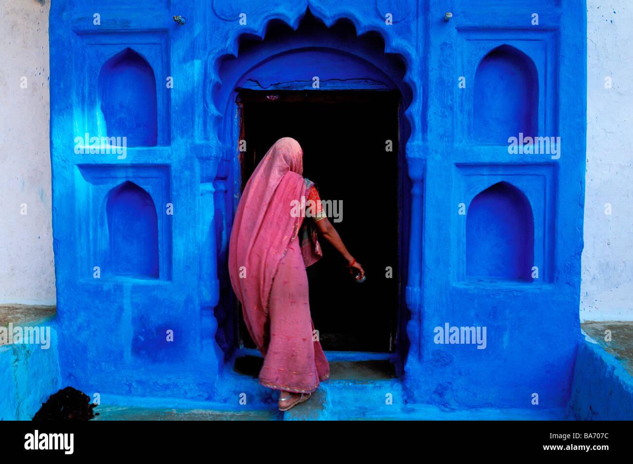 La India, el estado de Rajasthan, Jodhpur, la ciudad azul antiguo Imagen De Stock