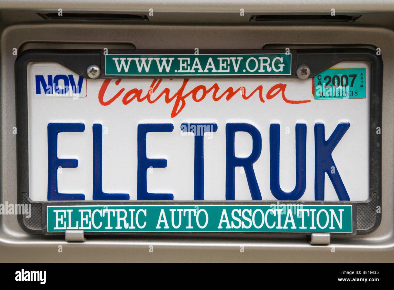 ELETRUK\' (carretilla eléctrica) de matrícula de un vehículo ...