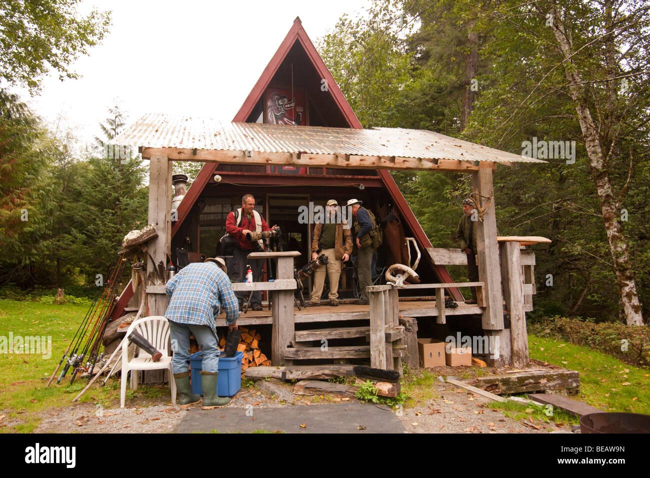 Bastidor de cabina de pesca en el Pacífico Noroeste en Canadá Foto ...