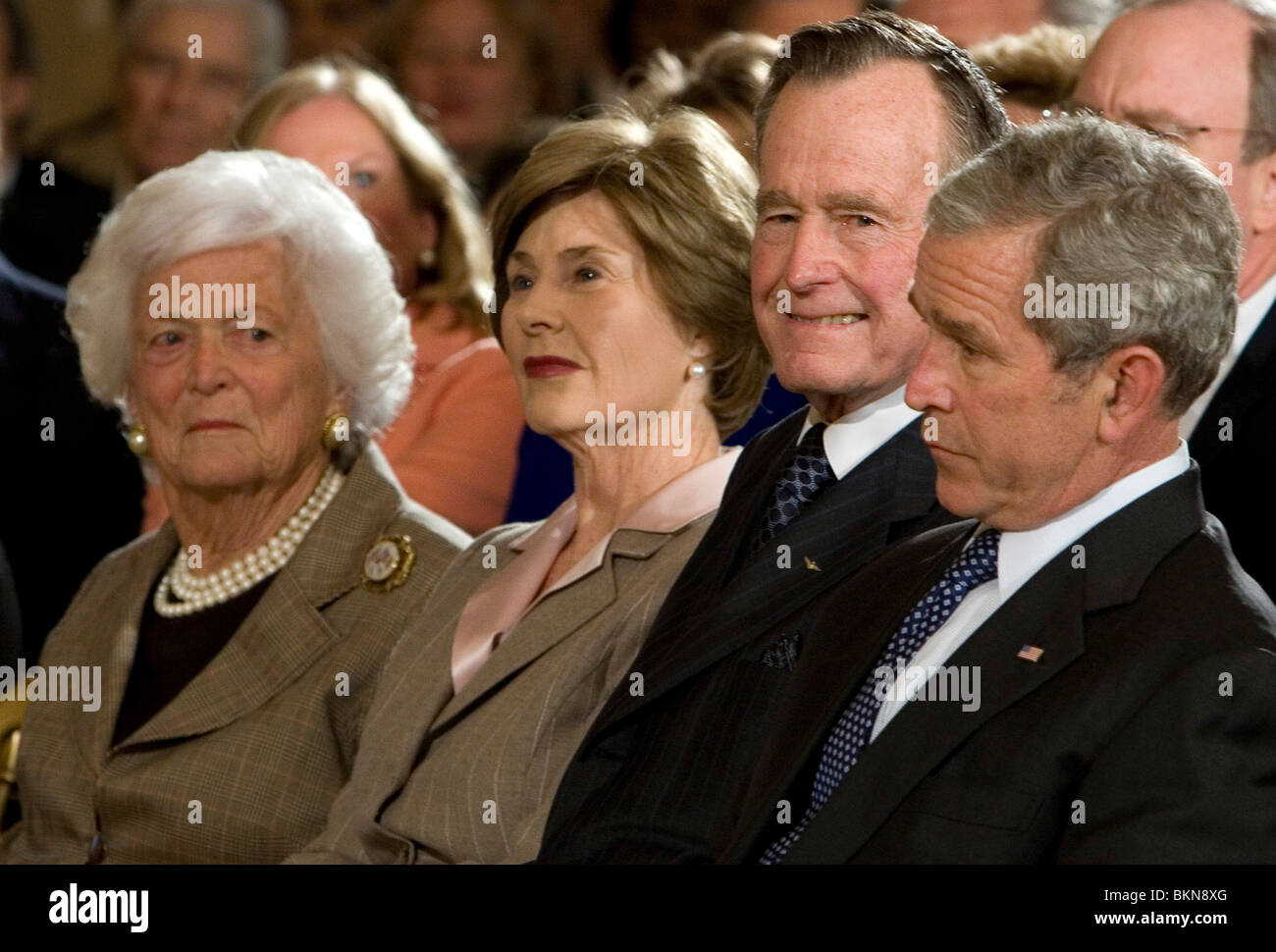 Apologise, but, George w and laura bush are absolutely