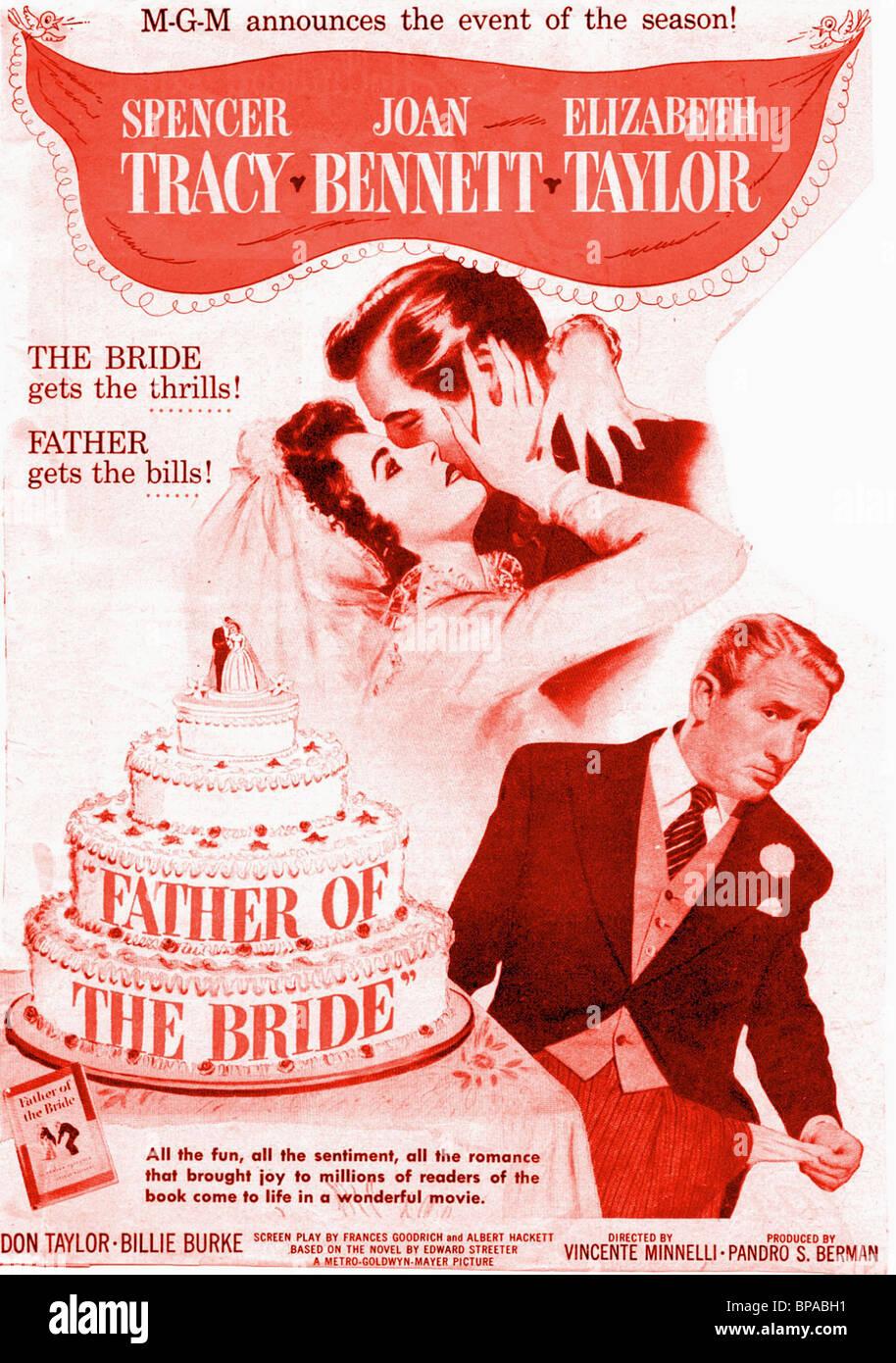 ELIZABETH TAYLOR & Spencer Tracy póster de película el padre de la ...