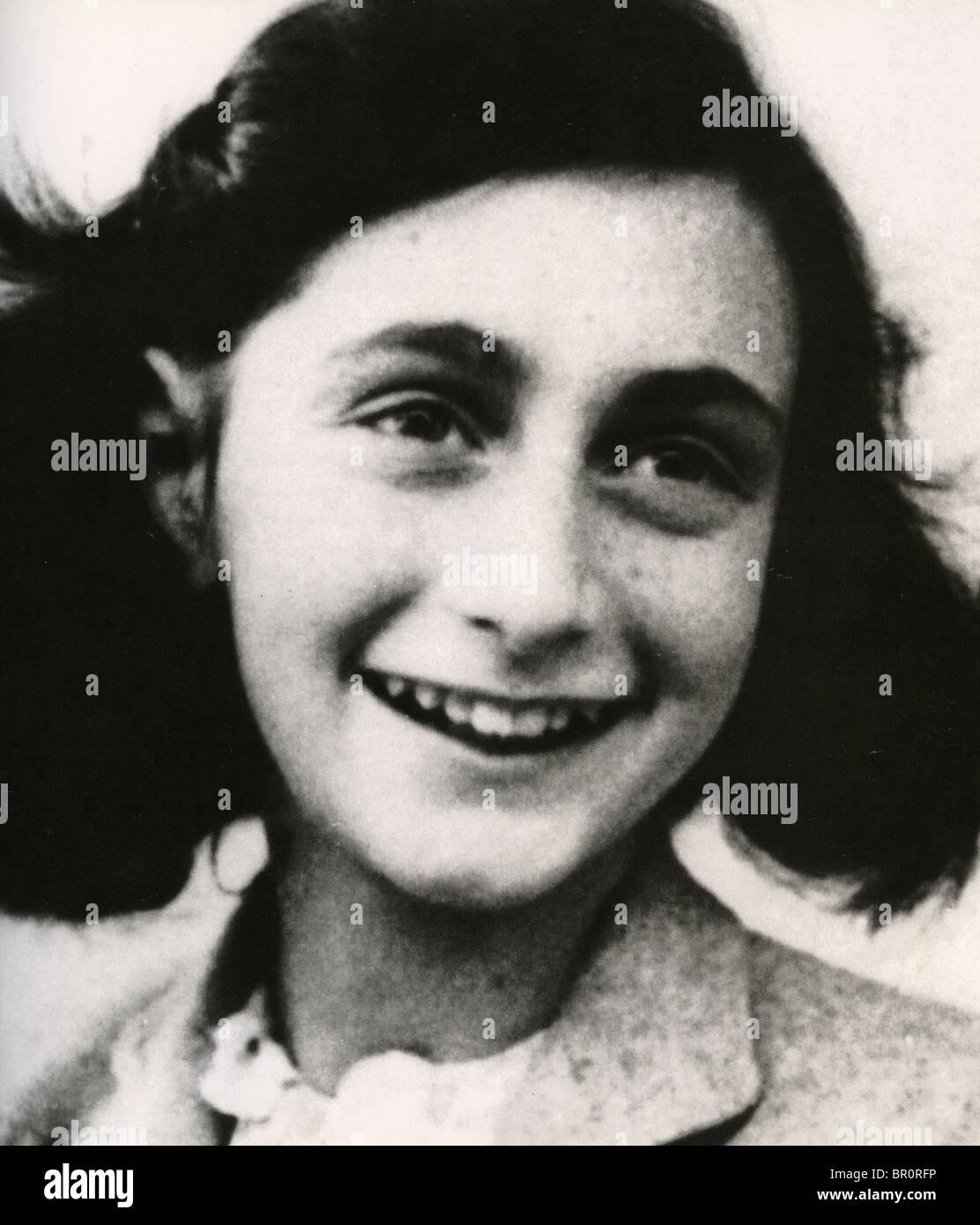 ANNE Frank (1929-1945) Holandés judío víctima del Holocausto Imagen De Stock