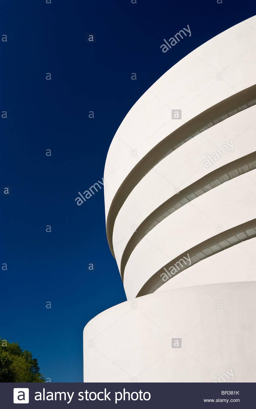 El Museo Guggenheim, la ciudad de Nueva York. Frank Lloyd Wright, arquitecto. Imagen De Stock