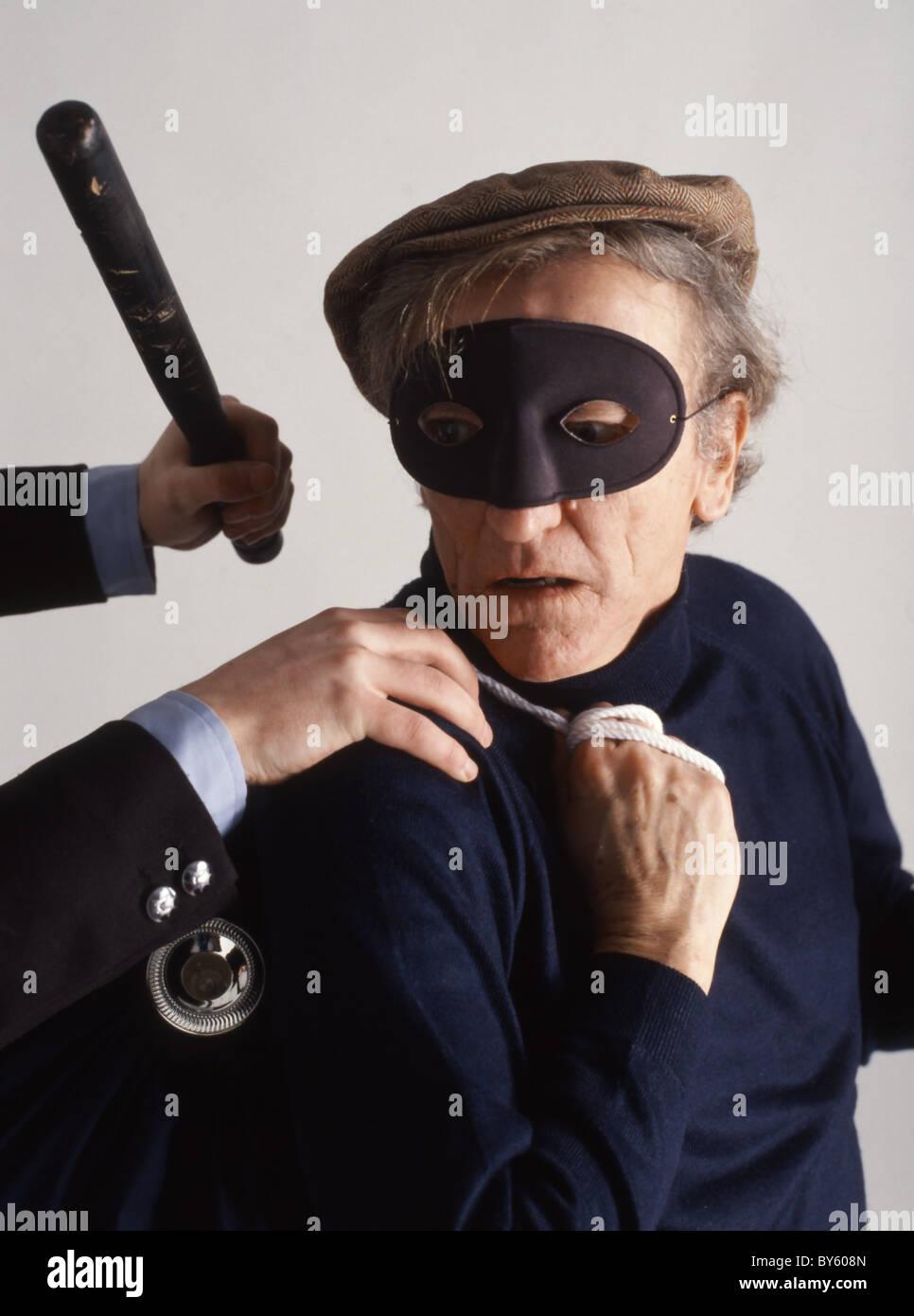 corte Un la por vestido máscara brazo ladrón ladrón policía ley hombre como un hombre de la Ladrón de largo ladrón el za81Sn