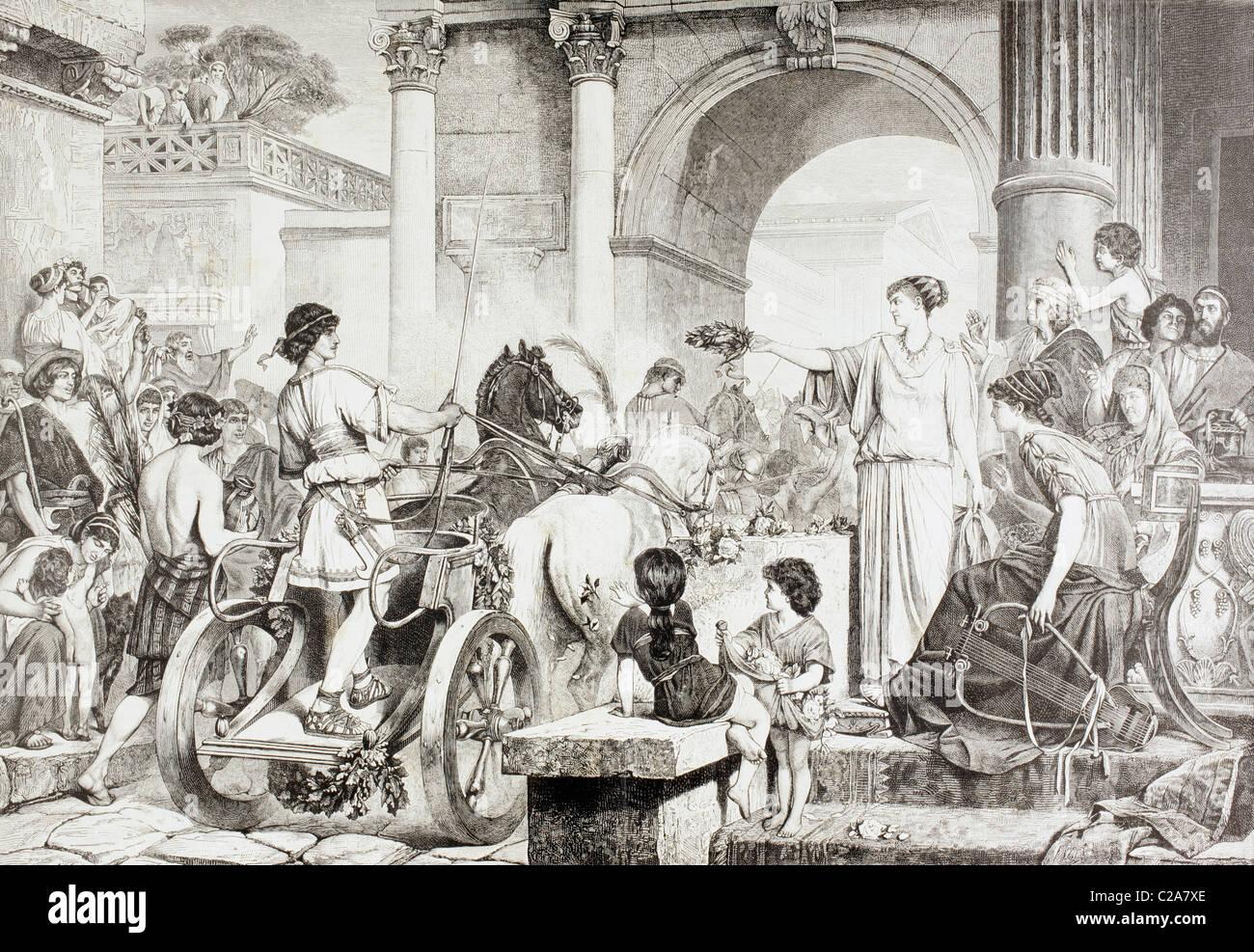 Los Antiguos Juegos Olimpicos Griegos El Ganador De La Carrera Es