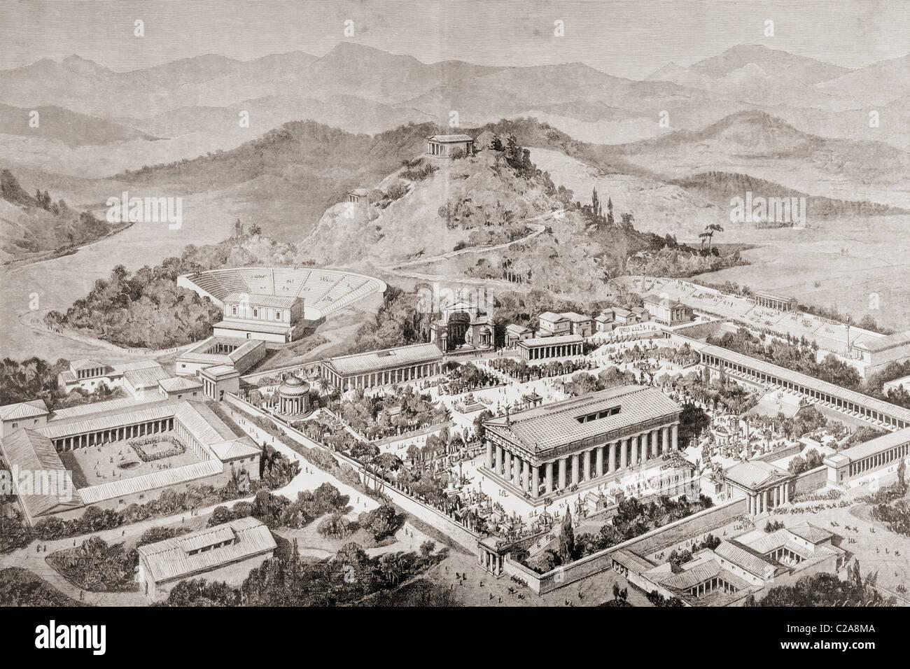 Impresion Artistica De Olimpia En Grecia En La Epoca De Los