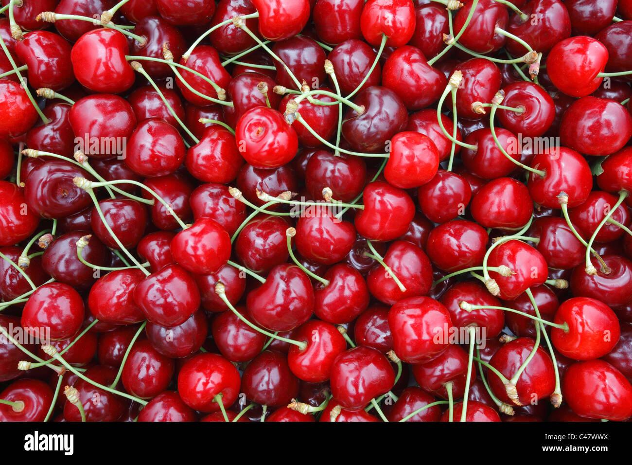 La textura de los frutos de cereza Imagen De Stock