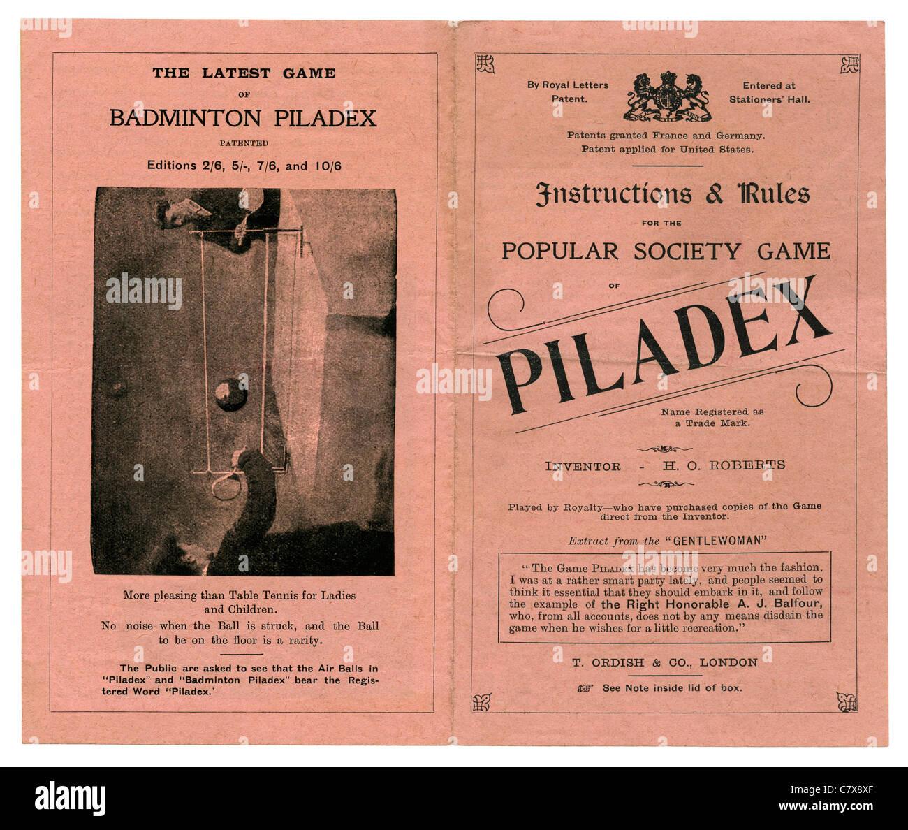 Instrucciones Y Reglas Para El Juego De Salon Victoriano De Piladex